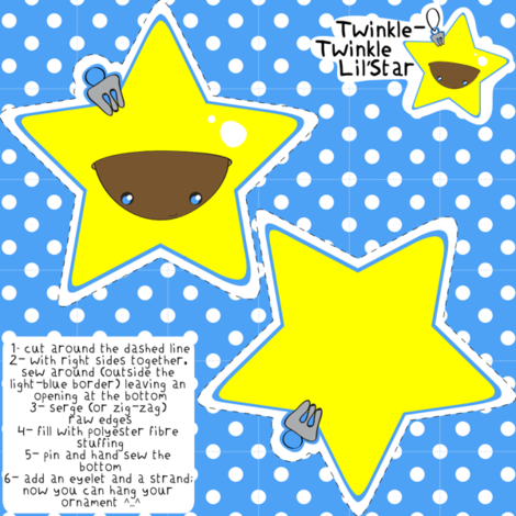 Twinkle-Twinkle Lil'Star ornament fabric by majobv on Spoonflower - custom fabric