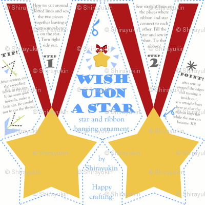 Wish upon a star hanging ornament