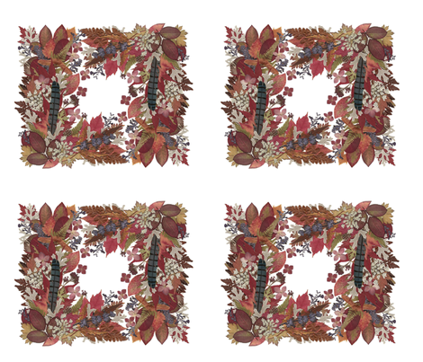 Outside In - Frames & Borders - Warm & Rosy Colors fabric by buzzinbumble on Spoonflower - custom fabric