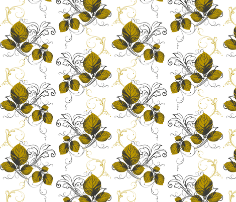 Autumn Gold fabric by cksstudio80 on Spoonflower - custom fabric