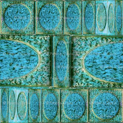 Double_BLUE_Op Art Circles