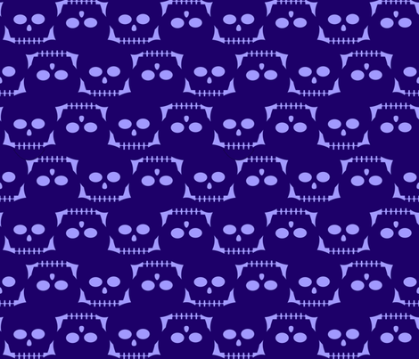 I see dead people—purple fabric by slothdaddy on Spoonflower - custom fabric