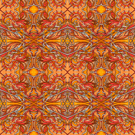 Sunset of Fire fabric by edsel2084 on Spoonflower - custom fabric
