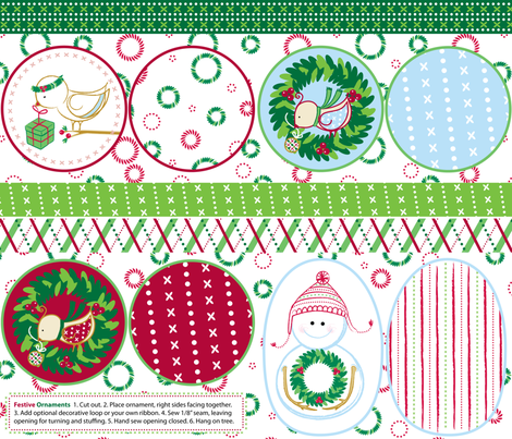 Festive Ornaments - © Lucinda Wei fabric by simboko on Spoonflower - custom fabric