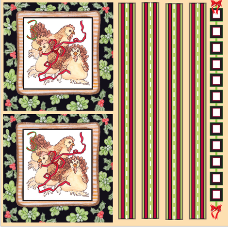 12 Days of Christmas1-4 fabric by leslipepper on Spoonflower - custom fabric