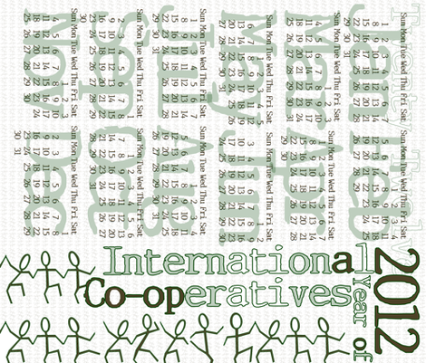 International Year of Co-operatives, 2012 fabric by wiccked on Spoonflower - custom fabric