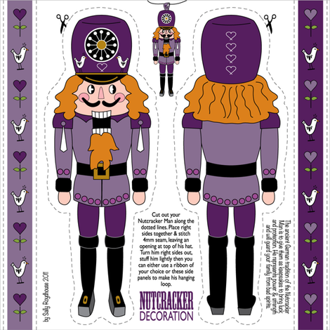 nutcracker_ornament_purple fabric by peppermintpatty on Spoonflower - custom fabric