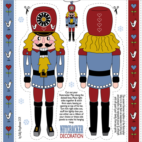 nutcracker_ornament__red fabric by peppermintpatty on Spoonflower - custom fabric