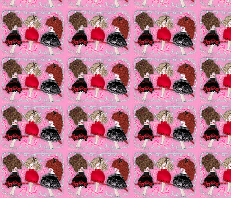 The Ta Ta Dolls by Cathy Comora fabric by cathycomora on Spoonflower - custom fabric