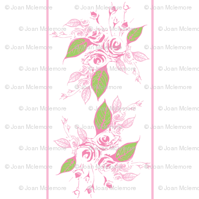 Sweetheart Rose pink stripe