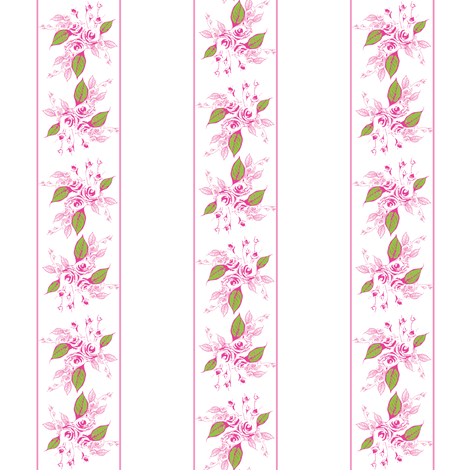 Sweetheart Rose rich pink fabric by joanmclemore on Spoonflower - custom fabric