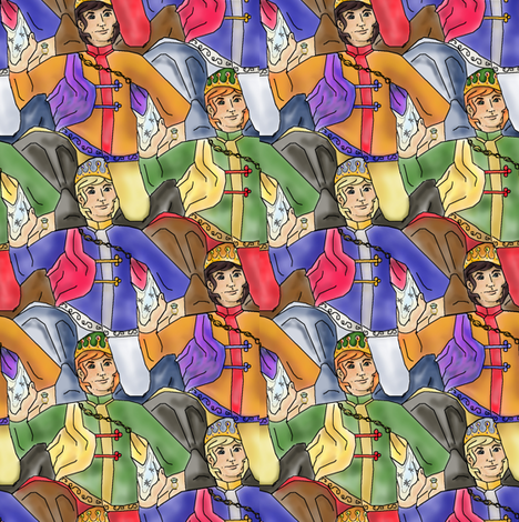 Fairy tale Prince Proposes fabric by eclectic_house on Spoonflower - custom fabric