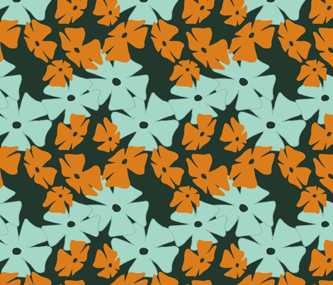 Thumbergina, Orange fabric by spugnardidesign on Spoonflower - custom fabric