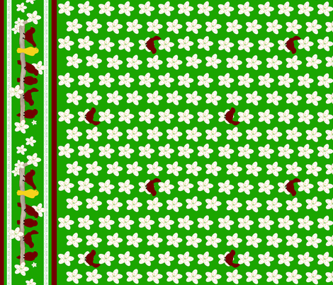 Chirping Holidays Border Print fabric by cksstudio80 on Spoonflower - custom fabric