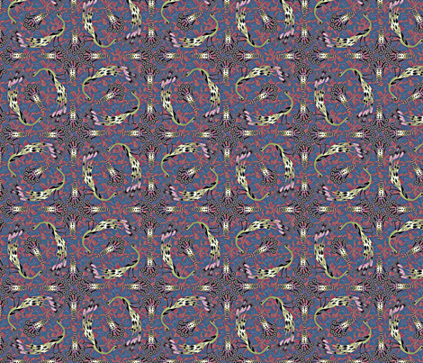 Parade of Peacocks - Tutti Frutti fabric by glimmericks on Spoonflower - custom fabric
