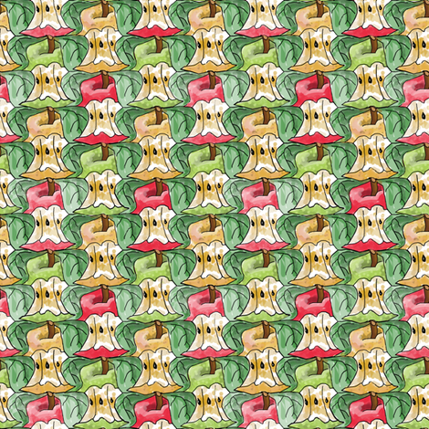Apple Cores fabric by eclectic_house on Spoonflower - custom fabric