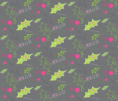 modern holly fabric by fable_design on Spoonflower - custom fabric