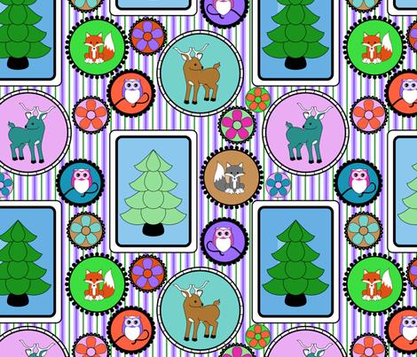 Framed Animals fabric by shala on Spoonflower - custom fabric