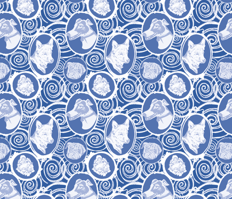 Doggeo Cameo fabric by twobloom on Spoonflower - custom fabric