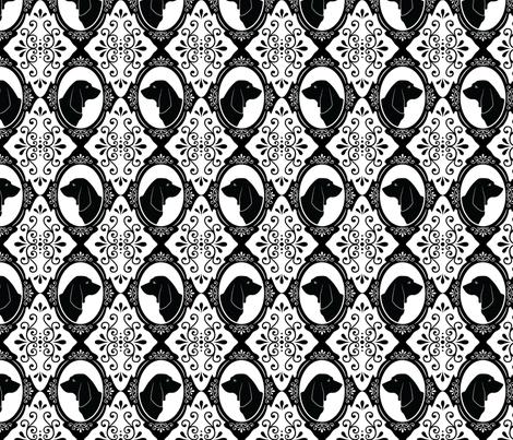 The Regal Basset Hound (Black) fabric by robyriker on Spoonflower - custom fabric