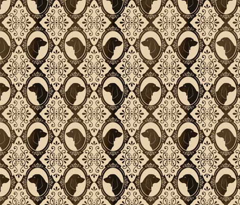 The Regal Basset Hound fabric by robyriker on Spoonflower - custom fabric