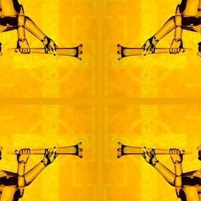 Golden Angel with Cross