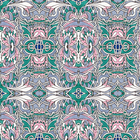 Think Pink fabric by edsel2084 on Spoonflower - custom fabric