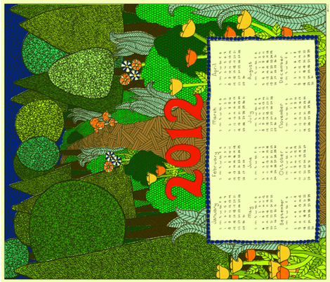 2012 Forest Calendar fabric by erinina on Spoonflower - custom fabric