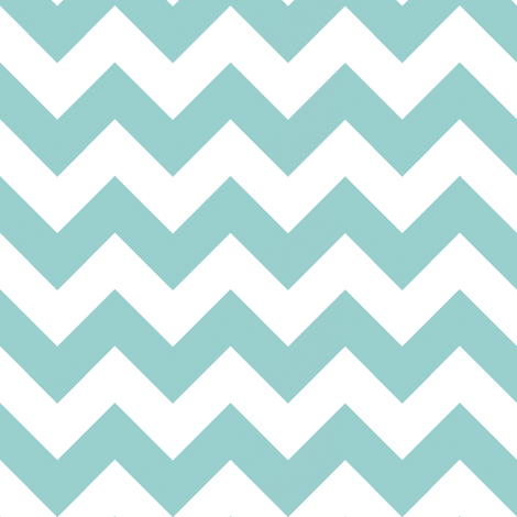 Two Chevrons Make A Right: Mint Blue fabric by frontdoor on Spoonflower - custom fabric