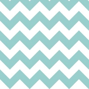 Two Chevrons Make A Right: Mint Blue