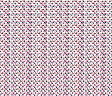 1940s Three flowers & leaves fabric by the_cornish_crone on Spoonflower - custom fabric