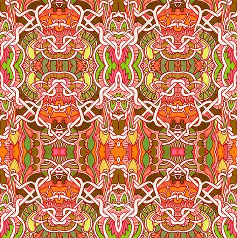 Orange Wallpaper Gavotte fabric by edsel2084 on Spoonflower - custom fabric