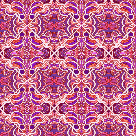 Victorian Tiles (hot colors) fabric by edsel2084 on Spoonflower - custom fabric