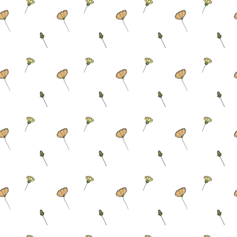 poppy fabric by luluhoo on Spoonflower - custom fabric