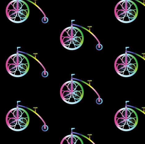 Steampunk Bicycle, S fabric by animotaxis on Spoonflower - custom fabric