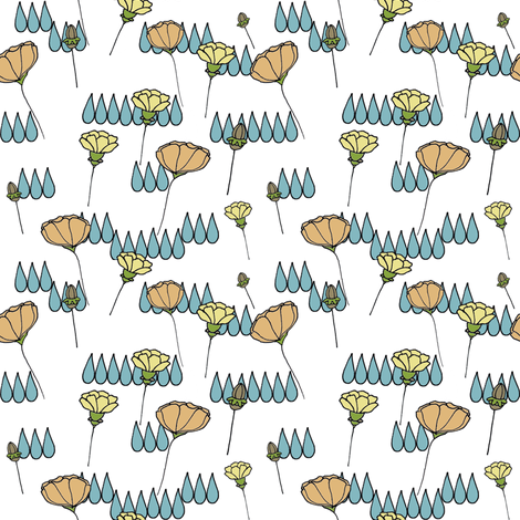 poppy seed cluster fabric by luluhoo on Spoonflower - custom fabric