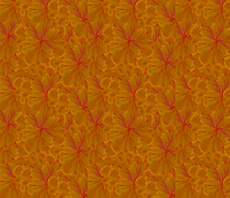 fantasy flowers - orange fabric by maplewooddesignstudio on Spoonflower - custom fabric