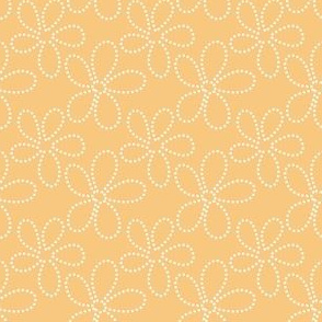 gold ditsy dot flowers