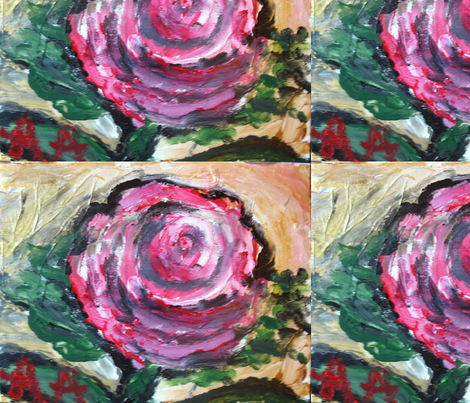 A_Red__Rose_in_Full_Bloom__sh fabric by anne_k_abbott on Spoonflower - custom fabric