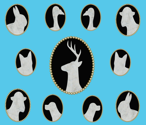 "classic cameo fabric by frances""fancy_felter"" on Spoonflower - custom fabric"