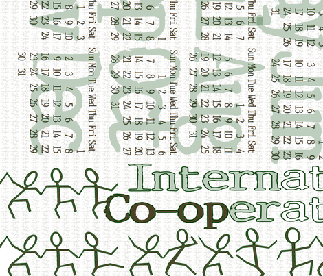 International Year of Co-operatives, 2012, sized for linen cotton canvas fabric by wiccked on Spoonflower - custom fabric