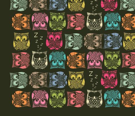 sherbet owls decal fabric by scrummy on Spoonflower - custom fabric