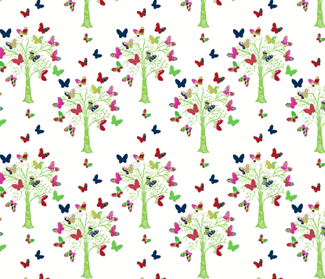 butterfly tree fabric by bethan_janine on Spoonflower - custom fabric