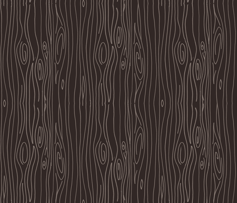 Wonky Wood - Dark Brown fabric by jesseesuem on Spoonflower - custom fabric