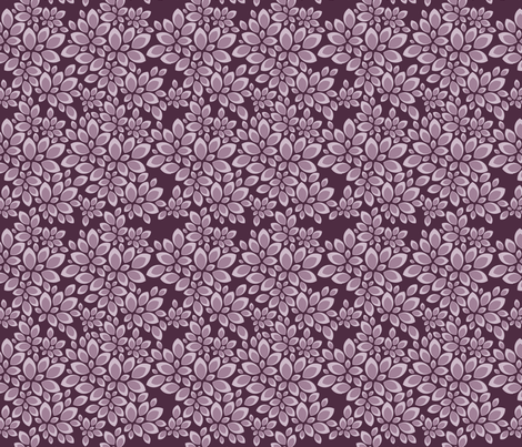 Leaves - Calm Plum fabric by jesseesuem on Spoonflower - custom fabric