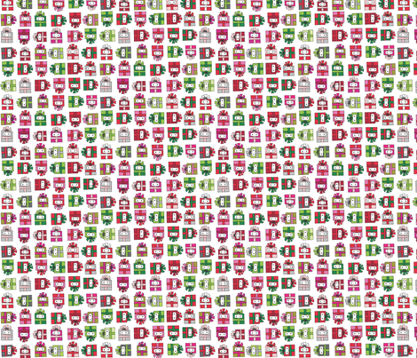 Robot Gifts fabric by urban_threads on Spoonflower - custom fabric