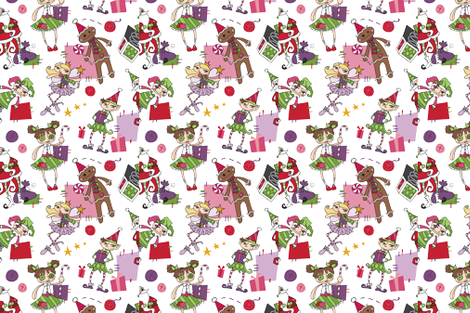 Primitive Christmas fabric by urban_threads on Spoonflower - custom fabric