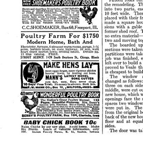 Chicken Ads Jan 1928 Black and White