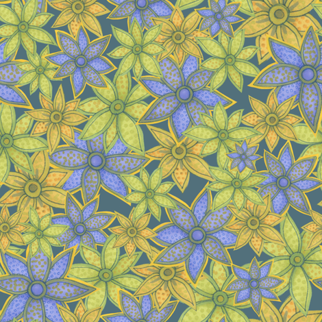Paisley_Flower_300dpi fabric by nicoletamarin on Spoonflower - custom fabric