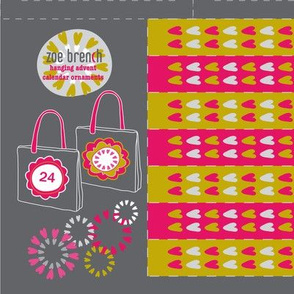 Hearty Flowers - Advent Calendar Mini Tote Bags